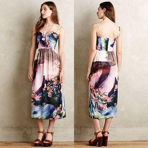 NWOT Anthropologie Daybreak Midi Floral Dress